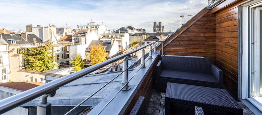vue des toits à Reims - Améliorez la visibilité de vos annonces de vente ou location immobilière