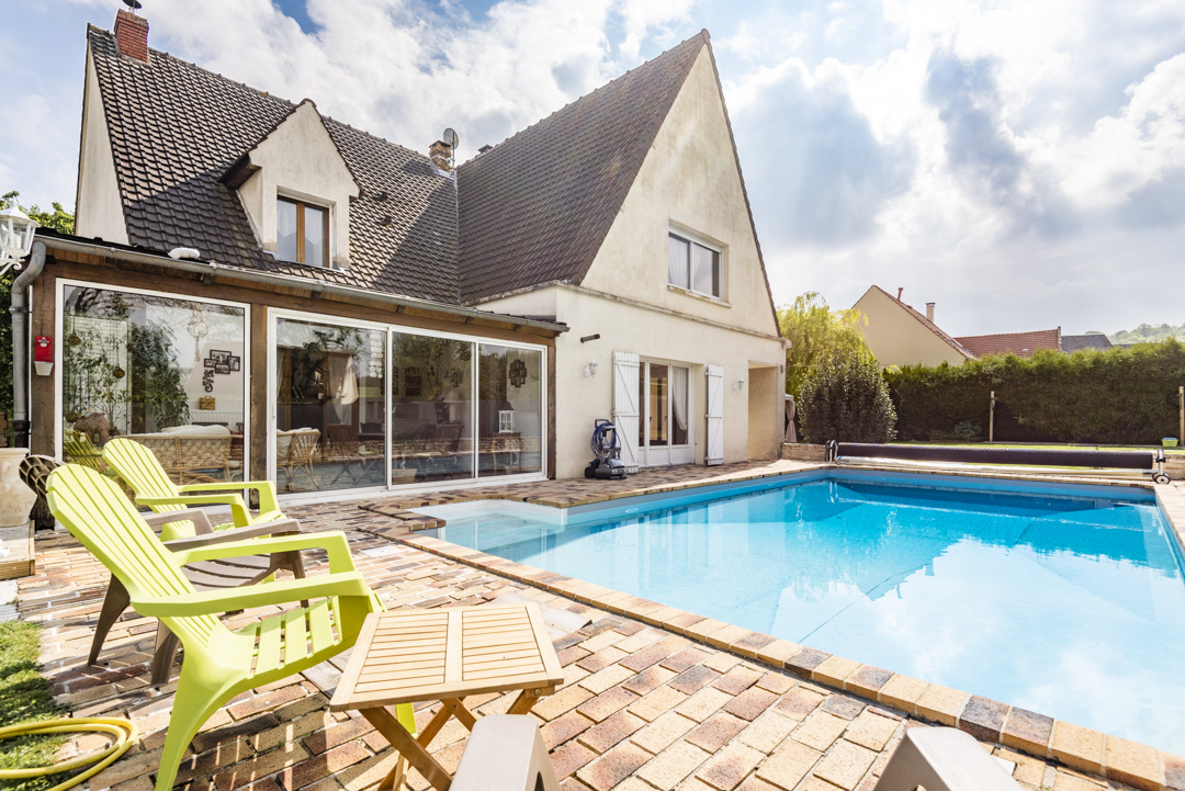 Photographe maison et piscine à Soissons