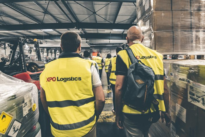 evenement visite entrepot xpo logistics